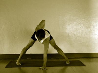 parivritta prasarita padottanasana  mark stephens yoga