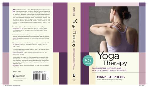 Yoga therapy front cover, back cover, description, praise